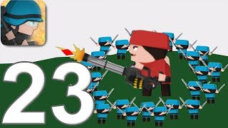 CLONE ARMIES - Walkthrough Gameplay Part 23 - COMMANDO -SANDBOX - (iOS Android)