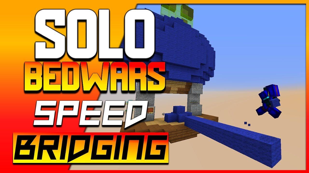 Solo Bedwars | How to Sprint-Jump Speed Bridge on Bedrock [Minecraft Hindi]