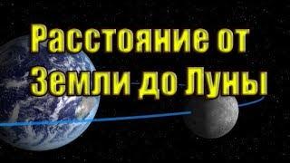Расстояние от Земли до Луны.