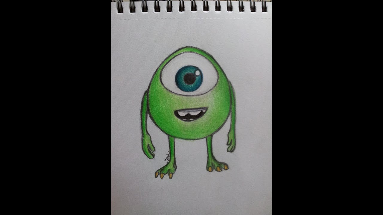 How To Draw Mike Wazowski And Sully Speed Drawing M...