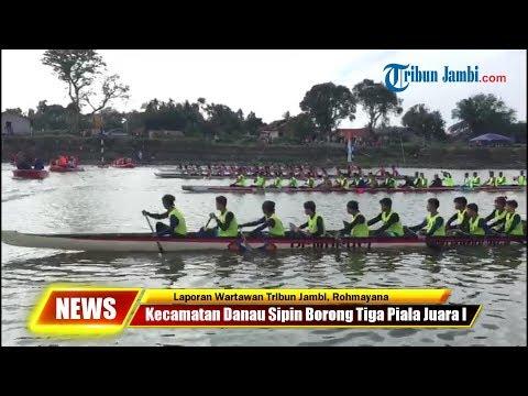 Kecamatan Danau Sipin Borong Tiga Piala Juara I Lomba Pacu Perahu Dan Ketek Hias