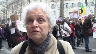 Manifestation contre les restrictions de budget des PMI (Paris 30 janvier 2014)