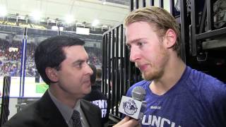 Carter Ashton Second Intermission Interview I Syracuse vs. Springfield I Feb. 7, 2015