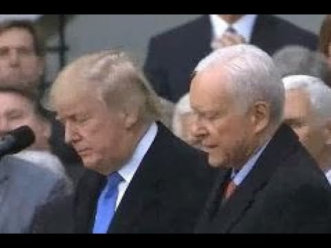Orrin Hatch gives emotionally powerful speech praising President Trump