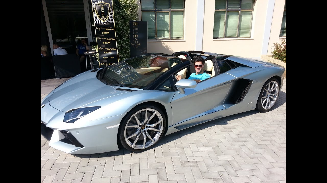 Sign And Drive 45 >> Lamborghini Aventador Roadster test drive - YouTube