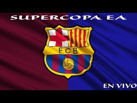 Jugando Torneo Supercopa EA con Barcelona