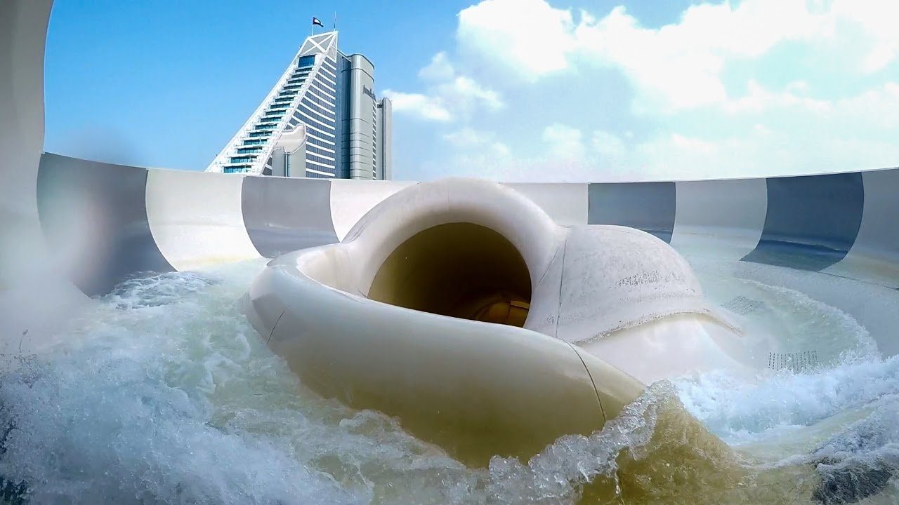 Wild Wadi Dubai Burj Surj Water Slide With Two Bowls