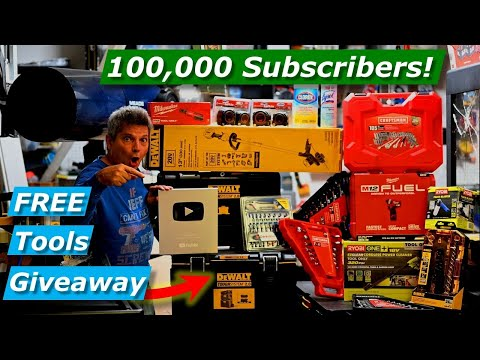 100,000-subscribers-15-free-tool-giveaway!-dewalt,-milwaukee,-ryobi,-craftsman-2020