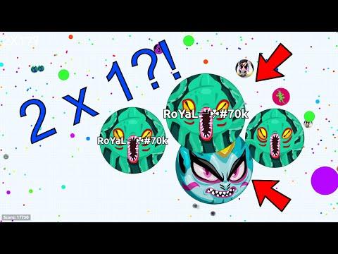 WTF?! MOST INTENSE 2x1 POPSPLIT FAIL EVER?!?! CRAZY AGAR.IO TAKEOVER!! (Agar.io)