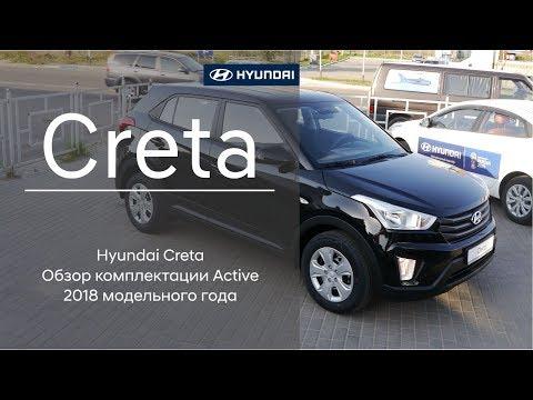 Hyundai Creta 2018 модельного года Обзор комплектации Active