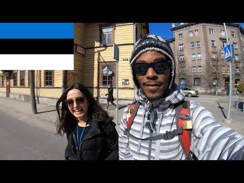 Walking tours in Tallinn Estonia with my new friend from Iran!
