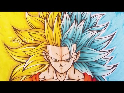 Drawing Goku | Super Saiyan 3 / Super Saiyan Blue 3 | TolgArt