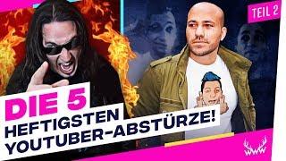 Die 5 HEFTIGSTEN YouTuber-Abstürze! - Teil 2 | TOP 5