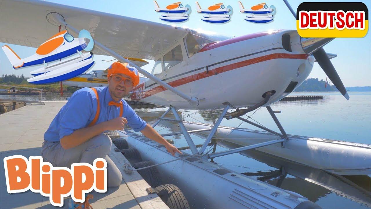 Blippi Deutsch - Blippi erkundet ein Wasserflugzeug | Abenteuer und Videos für Kinder