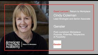 Return to Workplace | Cindy Coleman, Lead Strategist, Gensler