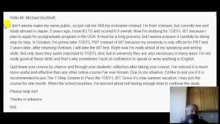 online toefl course comments to will i need to improve my speaking and writing proficiency