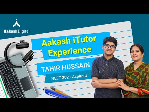 Tahir Hussain's NEET preparation journey: Aakash iTutor Story