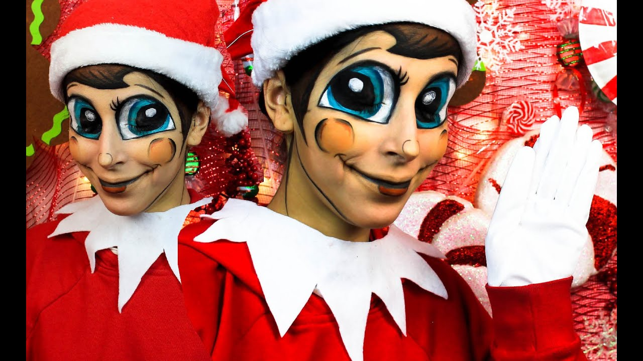 Elf on the shelf transformation makeup tutorial youtube baditri Gallery