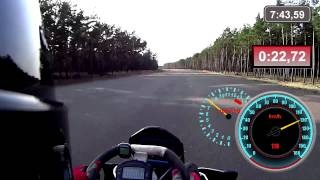 0-160km/h Go Kart 50PS Rotax 1/4 Meile Topspeed Hirth