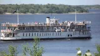 Колесный пароход Гоголь Архангельск The paddle steamer