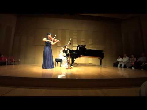 Ravel: Sonata for violin & piano in G Major, III /Ami Yokoyama & Sara Costa