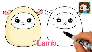 How to Draw a Cute Lamb Easy Squishmallows
