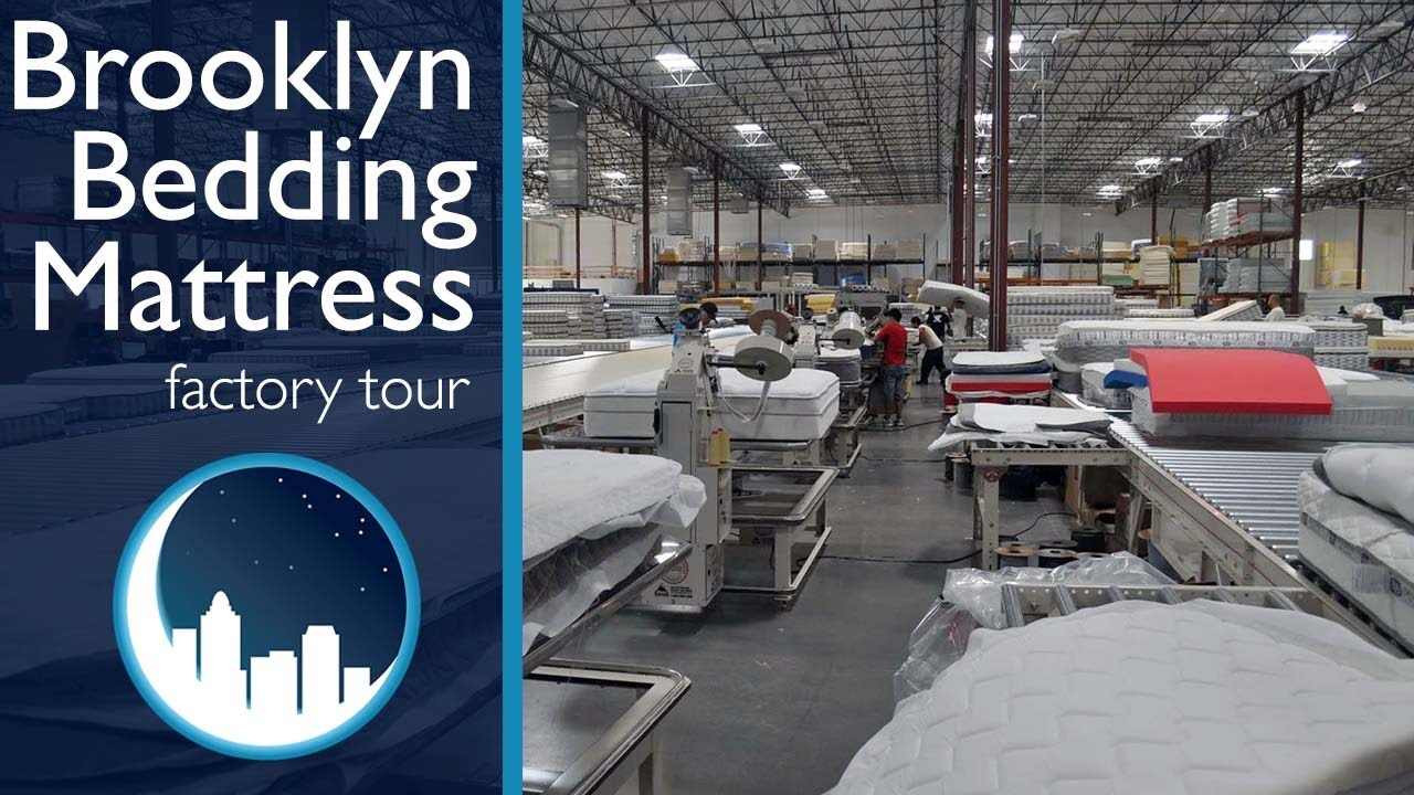 brooklyn bedding mattress factory tour youtube