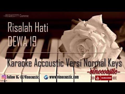 Dewa 19 - Risalah Hati Karaoke Akustik Versi Normal Keys