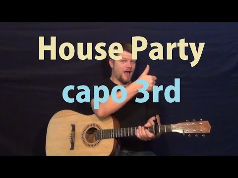 House Party (Sam Hunt) Easy Guitar Lesson How to Play Tutorial
