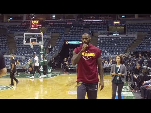 See LeBron James Go through Pregame Routine