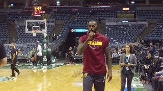 LeBron James goes through pregame routine | ESPN