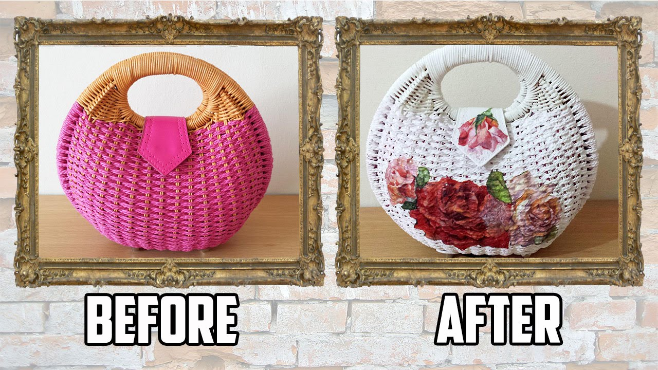 DIY Bag Transformation with Paint and Decoupage , Craftbrulee