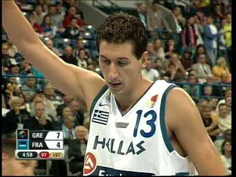 2005 Eurobasket semi final Greece-France(plus post game)
