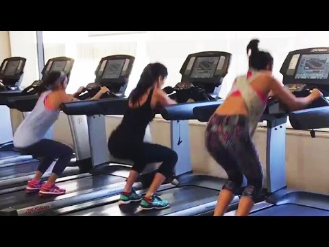 Three Actress'  are Alia Bhatt'  and her two friend Katrina Kaif''  and Parineet Chopra'  doing Gym