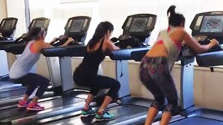 Katrina KaifAlia BhattParineeti Chopra Workout In Gym  Dream Team 2016
