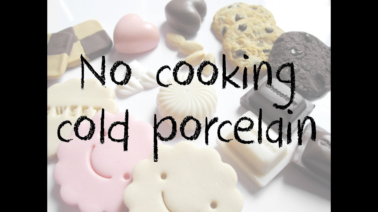No cooking Cold Porcelain tutorial