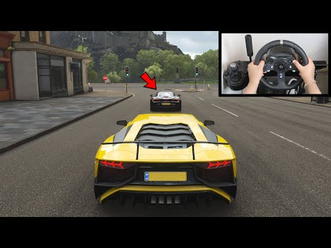 Forza Horizon 4 DRAG RACE: Lamborghini Aventador SV vs McLaren 720S (Steering Wheel) Gameplay
