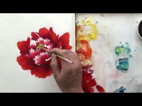 preview watercolor chinese painting spontaneous style with lian