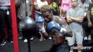 JERMALL CHARLO SHOWS YOU HOW A PRO THROWS COMBOS ON THE DOUBLE END BAG