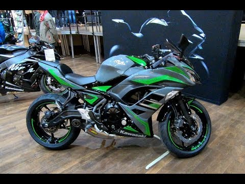 KAWASAKI NINJA 650 AKRAPOVIC EXHAUST NEW MODEL 2018 PEARL STORM GRAY WALKAROUND