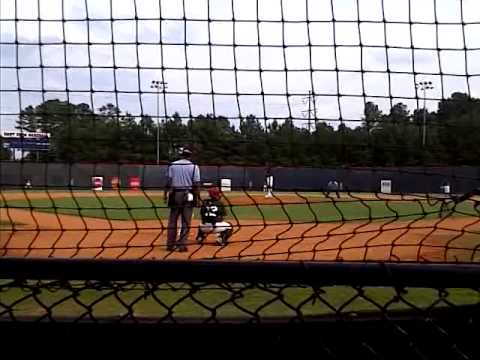 Jonathan Hughes pitching in Perect Game showcase