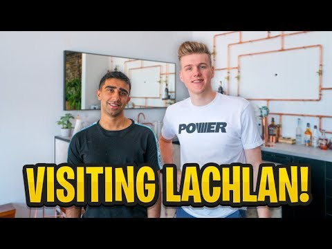 Visiting LACHLAN'S HOUSE & $500,000 FORTNITE Australian Pro-Am