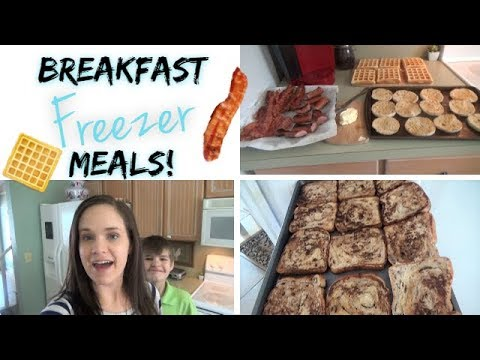 Breakfast Freezer Meals!  6 Breakfast Ideas!