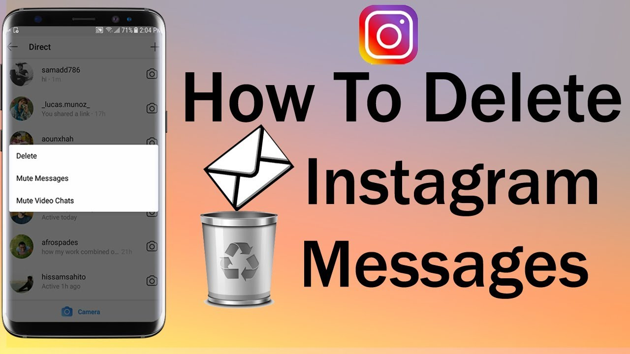How To Delete Instagram Messages 2018