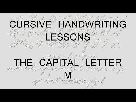 Cursive lesson 43 Capital letter M handwriting penmanship calligraphy copperplate