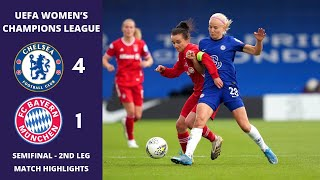 UWCL: Chelsea v Bayern Munich, 2nd Leg Match Highlights