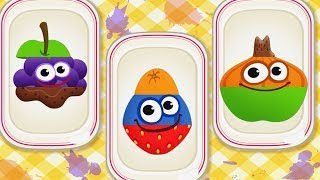 Fun Colors Learning Kids Games - Play Fruit Vegetable & Learn Puzzles w Funny Food - Game For Kids