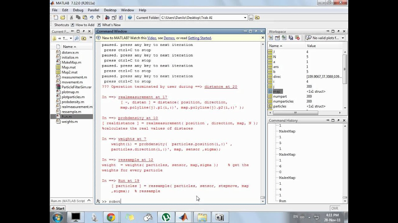 Particle Filter On Matlab