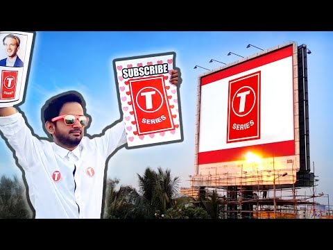 T-Series Billboards - INDIA REACTS | PewDiePie Vs T-Series | Mr Beast