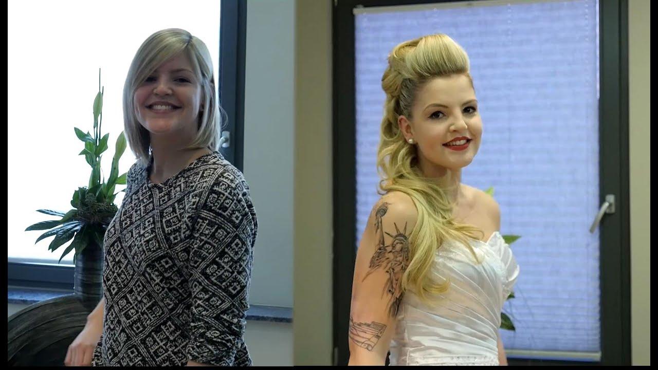 Brautfrisur Bei Kürzerem Haar Hochstecken Mit Haarteilen YouTube
